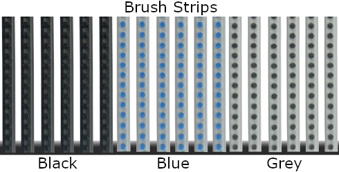 Geggus Brush Strip Colours