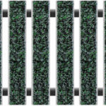 Geggus Ribbed Carpet Colour Black Green (Econyl)
