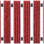 Geggus Ribbed Carpet Colour Red