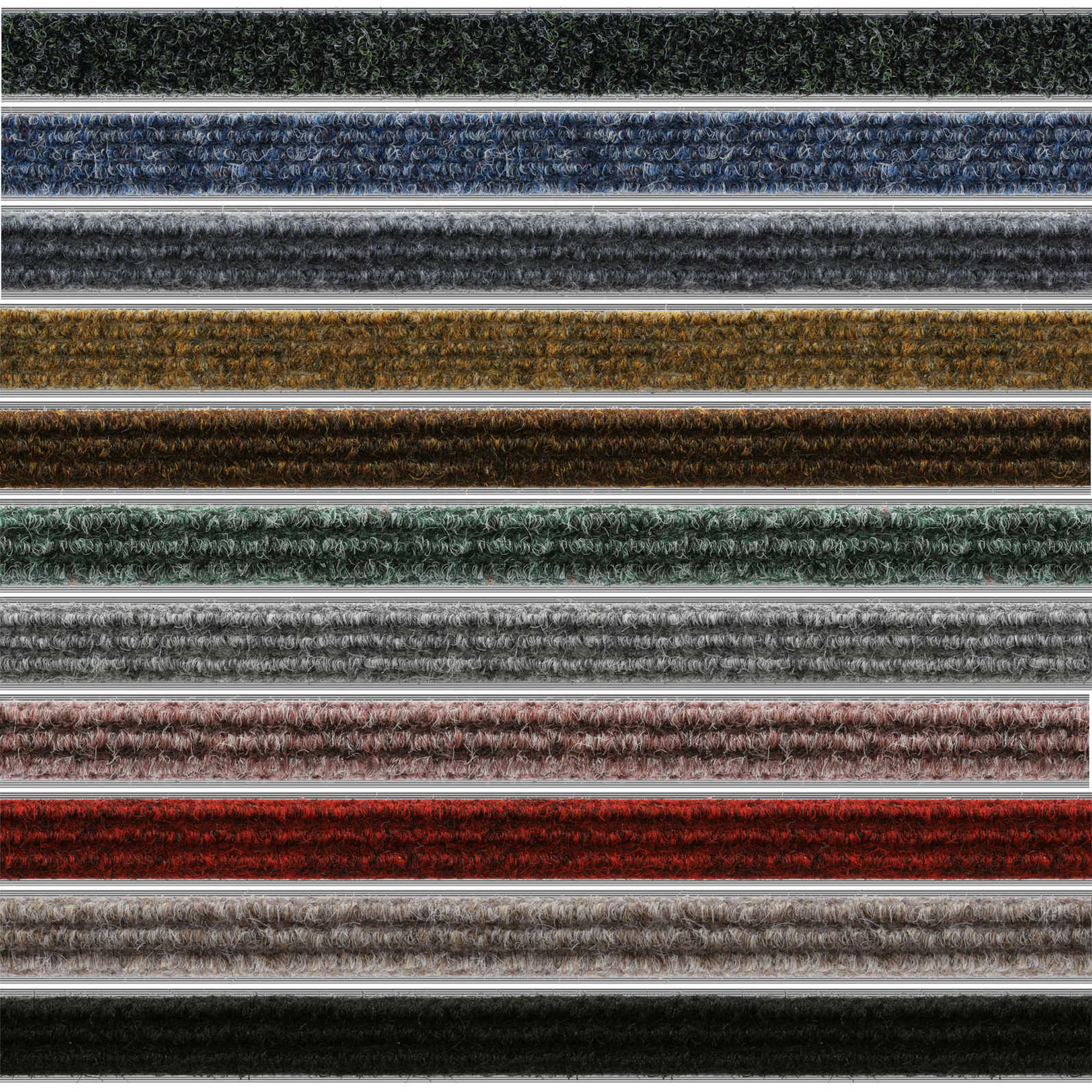 Geggus Ribbed Carpet Colours