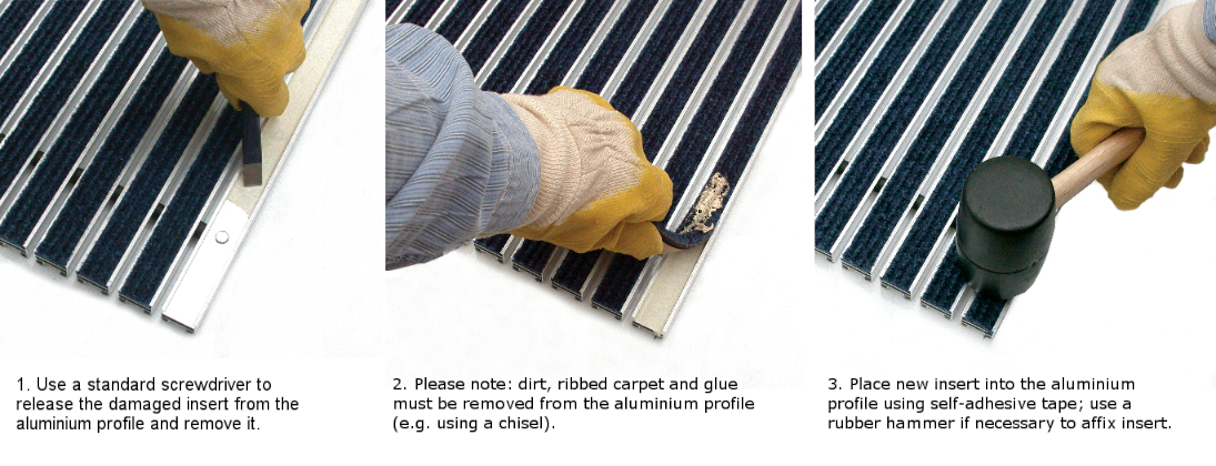 Replacement of Ribbed Carpet Strips Geggus